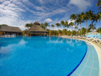 Hotel's pool panoramic view
