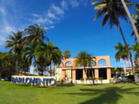 Hotel's entrance panoramic view