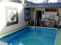 House's pool panoramic view