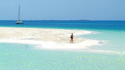 Cayo Largo del Sur beach panoramic view