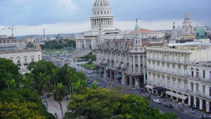 Central Park, Inglaterra Hotel, The Great Theater and The Capitol of Havana